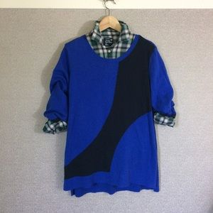 L Christopher & Banks Cropped Sleeve Sweater